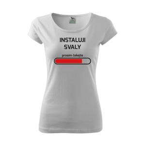 Dámské fitness tričko do posilovny Instaluji svaly