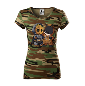 Dámske tričko Batman a Groot - ideální dárek