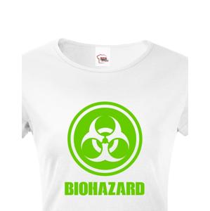 Dámské tričko Biohazard - ideální pro Geeky a hráče počítačových her