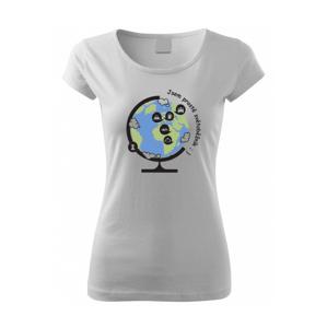 Dámské  tričko Jsem prostě světoběžník - skvělý dárek pro všechny turisty