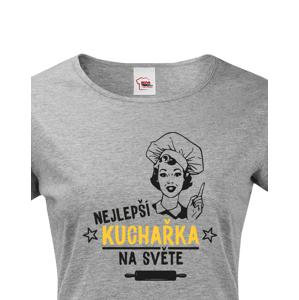 Dámské tričko Nejlepší kuchařka na světě - ideální dárek pro kuchařku
