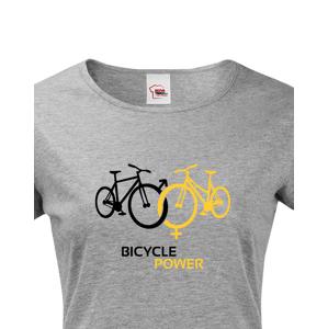 Dámské tričko pro cyklisty Bicycle Power - ideální dárek pro každého cyklo nadšence