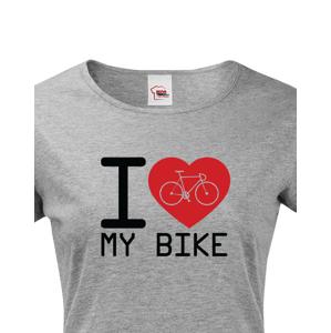 Dámské tričko pro cyklisty I love my bike - ideální dárek