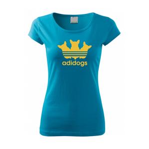 Dámské tričko pro pejskařky s motivem Adidogs
