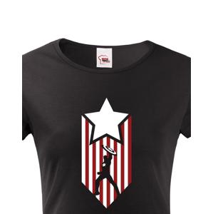 Dámské tričko s potiskem Kapitán Amerika - Captain America