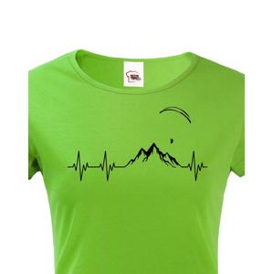 Dámské tričko s potiskem Tep Paragliding - ideální dárek k narozeninám