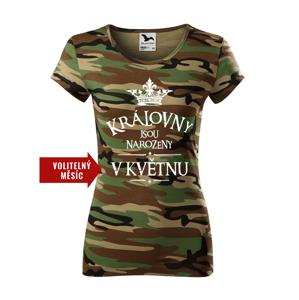 Dámské tričko s vtipným potiskem Královny jsou narozeny...