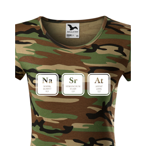 Dámské tričko s vtipným potiskem NaSrAt - triko jen pro odvážné