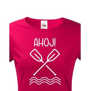 Dámské vodácké tričko Ahoj! - s dotiskem jména, týmu nebo čísla
