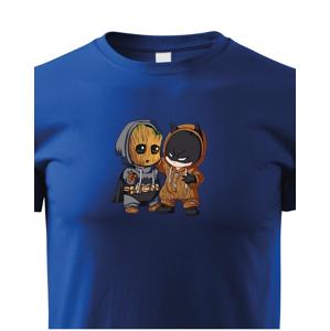 Dětské tričko Batman a Groot - ideální dárek