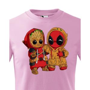 Dětské tričko Deadpool a Groot - super dárek