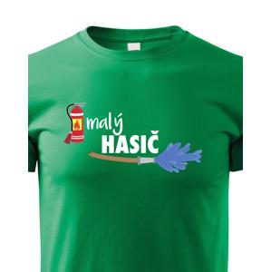 Dětské triko Malý hasič - originální triko pro syna hasiče
