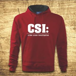 Mikina s kapucňou s motívom CSI
