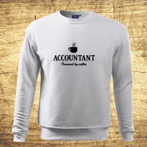 Mikina s motívom Accountant – Powered by coffee