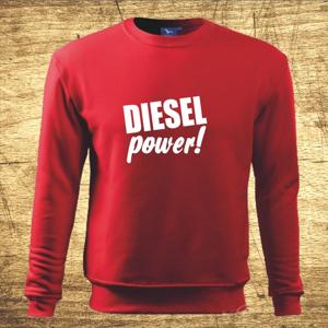 Mikina s motívom Diesel power!
