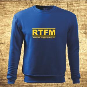 Mikina s motívom RTFM