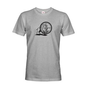 Myslivecké tričko divočák s originálním potiskem - dárek pro myslivce