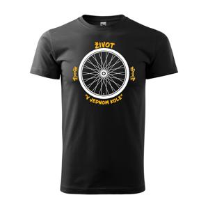 Originálne pánske tričko pre cyklistu Život v jednom kole