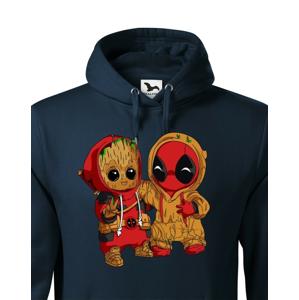Pánska mikina Deadpool a Groot - super dárek