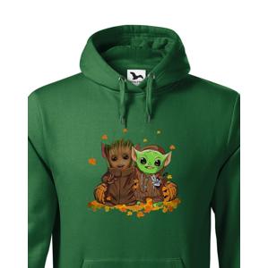 Pánska mikina Mistr Yoda a Groot - ideální pro každého fanouška