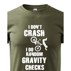 Pánské MTB tričko pro cyklisty RANDOM GRAVITY CHECKS