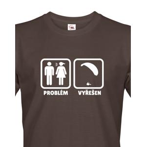 Pánské paragliding tričko Problem? Solved - doprava jen 46 Kč