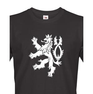 Pánské retro tričko s Českým lvem  - vlastenecké tričko