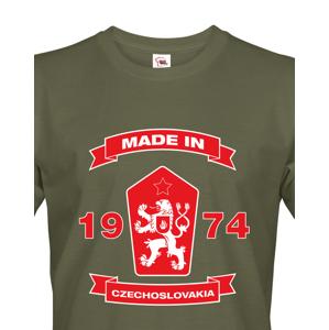 Pánské retro tričko se lvem a znakem ČSSR - doprava jen 46 Kč