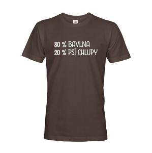 Pánské tričko -80 % bavlna, 20 % psi chlupy