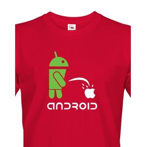 Pánské tričko  Android vs Apple - ideální triko pro Geeky