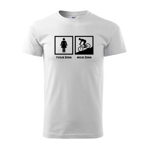 Pánské tričko Cyklo žena - ukažte všem jakou cyklistku máte doma