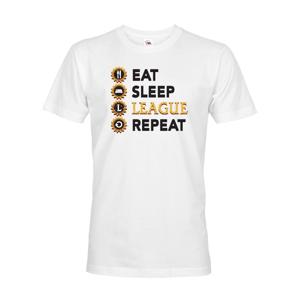 Pánské tričko Eat sleep league repeat - tričko pro fanoušky