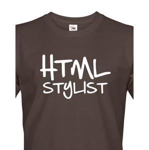 Pánské tričko HTML stylist - triko pro HTML kodéry