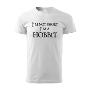 """Pánské tričko """"I am not short I am Hobbit"""" -  Nejsem malý, jsem hobit"""