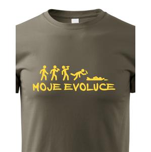 Pánské tričko nejen na pivo My evolution