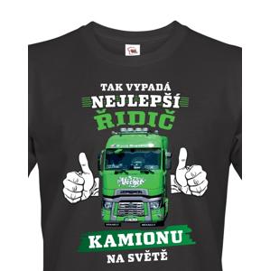 Pánské tričko Nejlepší řidič kamionu - možnost vlastního kamionu