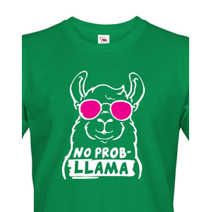 Pánské tričko No Prob - LLama - veselý potisk s ještě veselejšími barvami