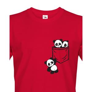 Pánské tričko Pandy v kapse - stylový originál
