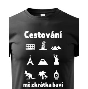 Pánské tričko pro cestovatele Cestování mě zkrátka baví