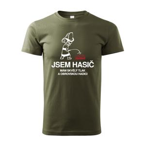 Pánské tričko pro hasiče Triko Jsem hasič - mám skvělý tlak a velkou hadici