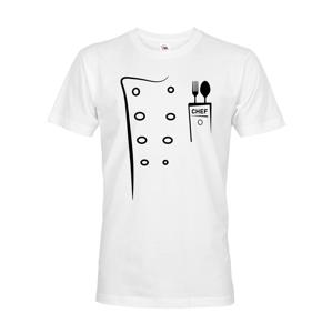 Pánské tričko pro kuchaře s imitaci rondonu