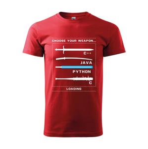 Pánské tričko pro programátory Choose your weapon