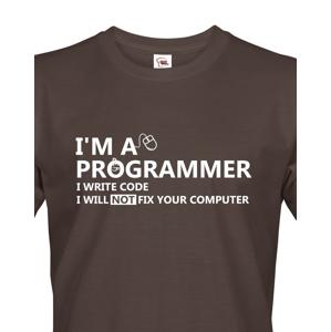 Pánské tričko pro programátory Jsem programátor
