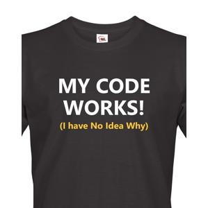 Pánské tričko pro programátory My Code Works