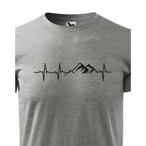 Pánské tričko pro turisty a cestovatele Tep hory