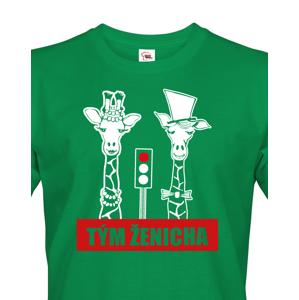 Pánské tričko pro tým ženicha s žirafami na rozlučku se svobodou