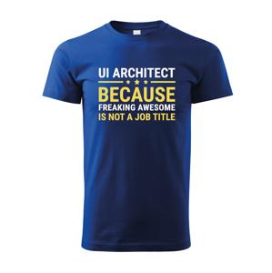 Pánské tričko pro UI architekty - dokonalý dárek pro IT specialisty