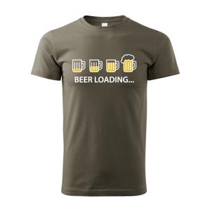 Pánské tričko s pivním potiskem Beer loading