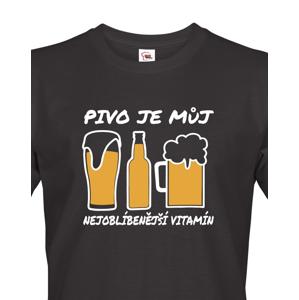 Pánské tričko s potiskem Pivo je vitamín - ideální dárek pro pivaře