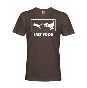 Pánské tričko s vtipným potiskem Fast Food